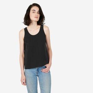 Everlane Women's Black Silk Tank Top